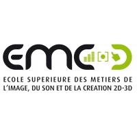 Logo de  EMC, Ecole Supérieure des métiers de l'image, du son et de la création 2D-3D